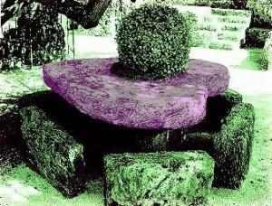 ハート型のテーブル。