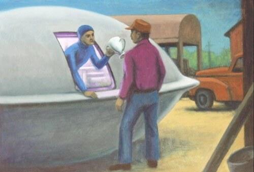 証言から描かれた事件のイメージ by Michael Buhler.