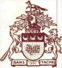 ゴーマンストン子爵家の家紋。左側と上部にキツネが描かれている