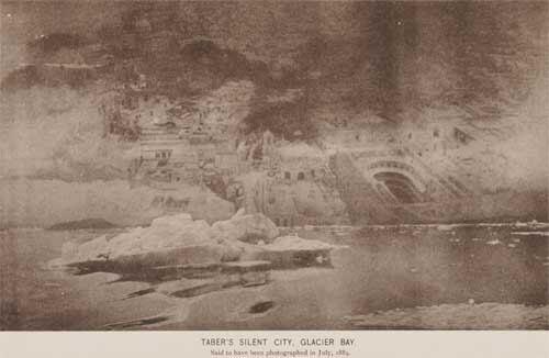 1889年7月I・W・ティバーによって撮影されたサイレント・シティー写真。 ウィロビーの撮影したモノと違い、街並みの映像がオーバーレイ気味なのがリアルである。