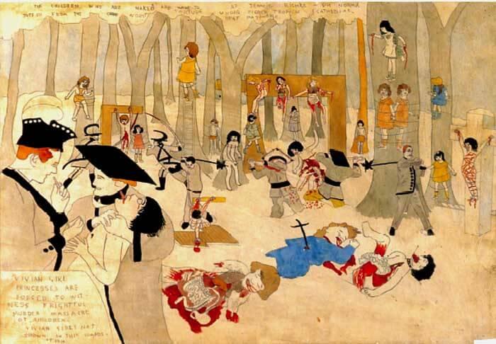 ダーガーの怒りに呼応したかのように、グランデニアンたちは勢いを増す。 少女たちは惨殺され、グロテスクな描写が増える。