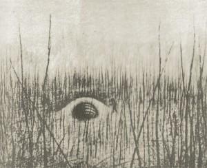 マーク教授による奇妙な穴のスケッチ。 マーク教授による奇妙な穴のスケッチ。画像出典:極北に封印された「地底神」の謎より