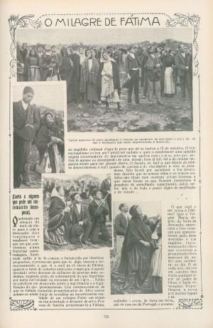 当時の新聞『Ilustracao Portuguesa』 紙面には空を眺める群衆写真が目立つ。 1917年10月29日付
