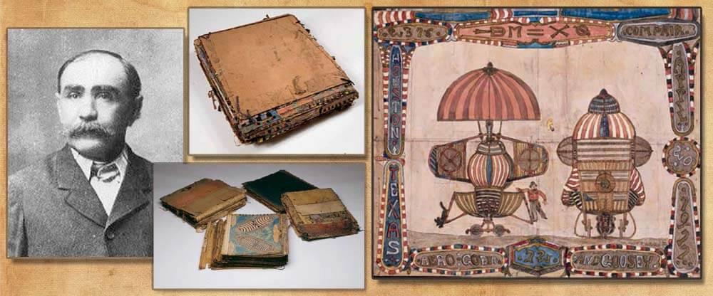 C・デルショーと彼の遺したボロボロのノートブック。